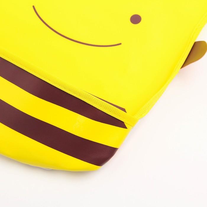 Нагрудник с карманом «Пчёлка», из клеёнки, на кнопках