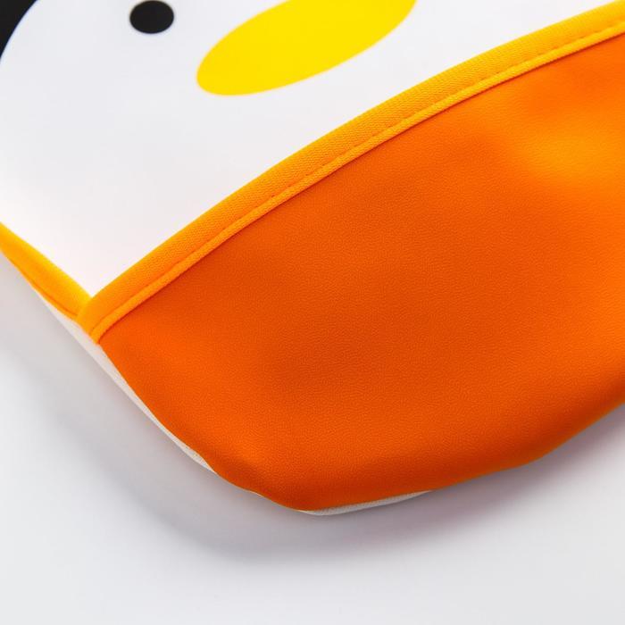 Нагрудник с карманом «Пингвин», из клеёнки, на кнопках - фото 2064063