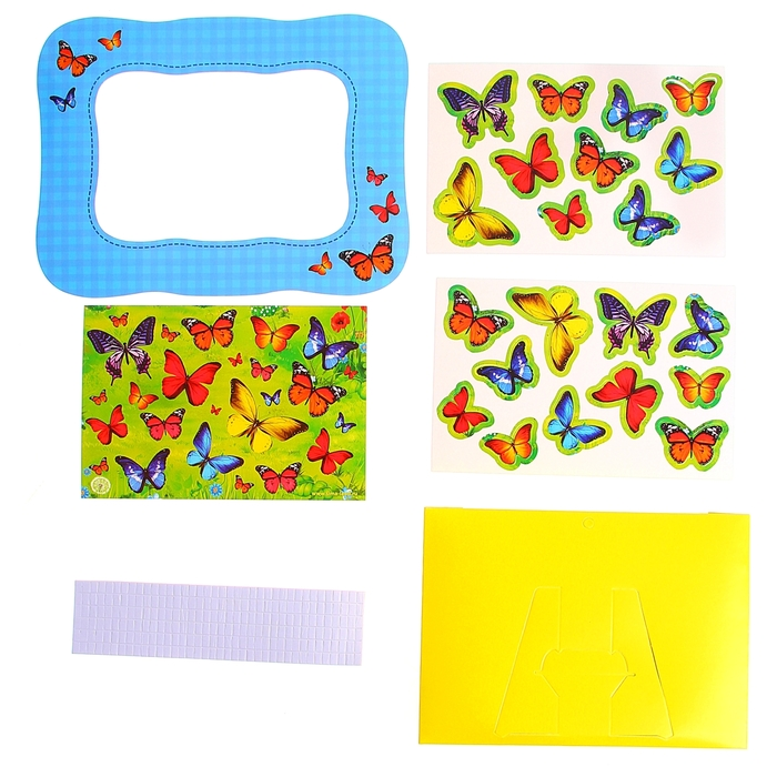 "3D картина - объемная аппликация ""Волшебные бабочки"""