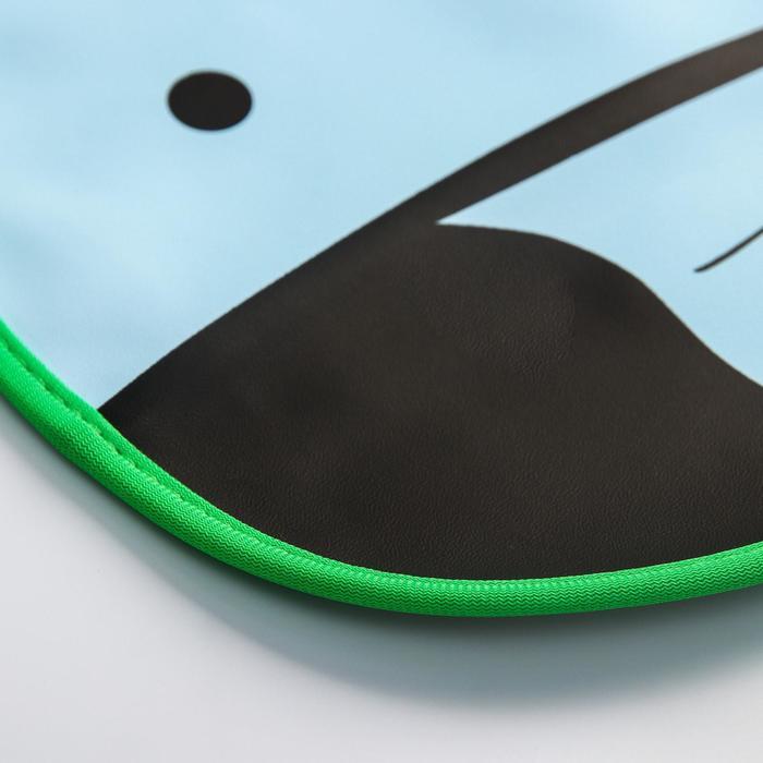 Нагрудник с карманом «Слоник» из клеёнки, на кнопках