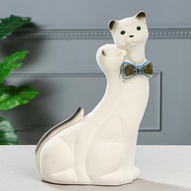 """Копилка """"Коты Пара Лакки"""", покрытие флок, белая, 40 см"""