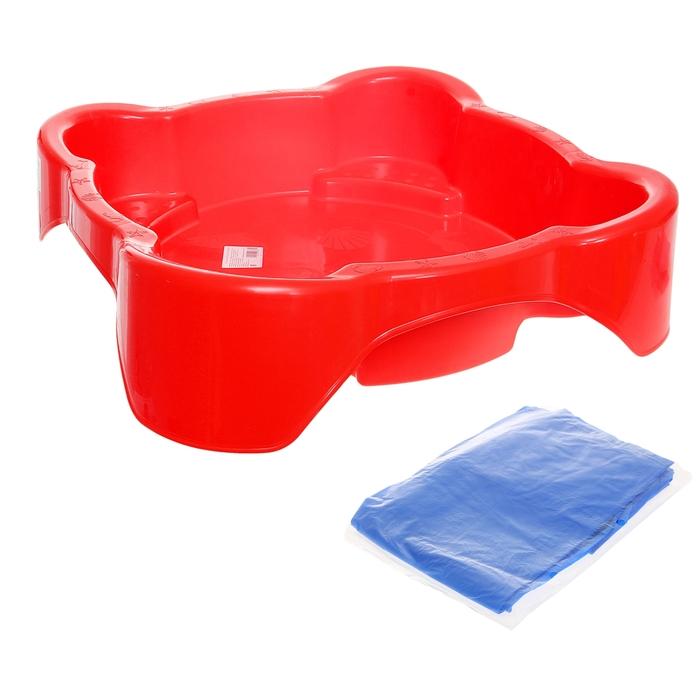 Песочница-бассейн квадратная с чехлом, цвета МИКС