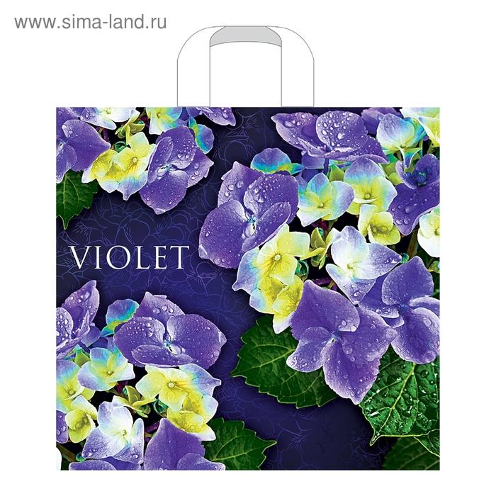 """Пакет """"Виолет"""", полиэтиленовый с петлевой ручкой, 40х36 см, 70 мкм"""