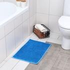Коврик Доляна «Букли», 40×60 см, цвет голубой - фото 7930380