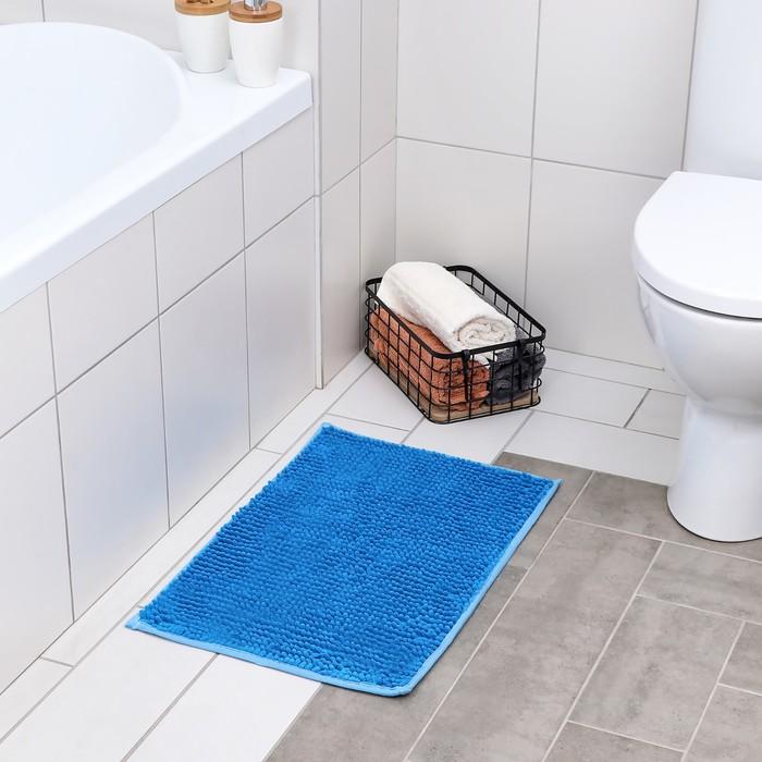 """Коврик для ванной """"Букли"""", цвет голубой"""