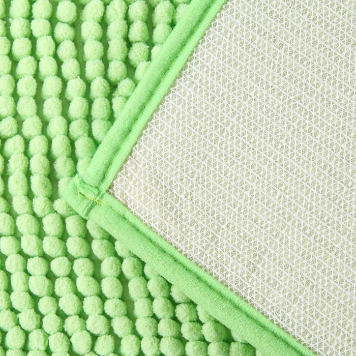 """Коврик для ванной """"Букли"""", цвет зеленый"""