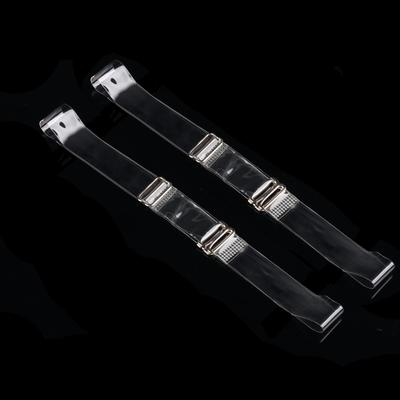 Silicone straps, 1.5 cm, pair, color: transparent