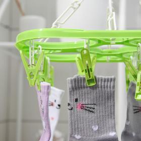 Сушилка для белья подвесная, 20 прищепок, цвет МИКС - фото 4634969
