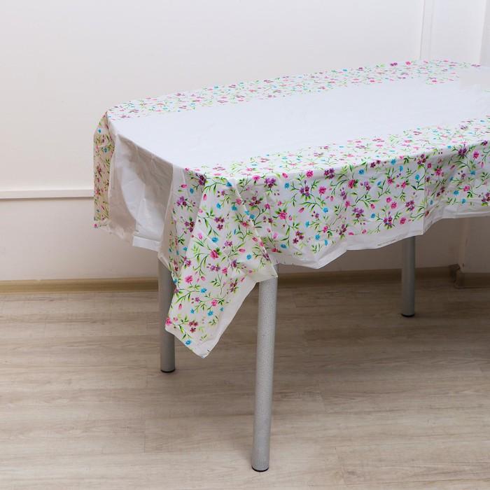 """Скатерть """"Цветы"""", 108х180 см"""