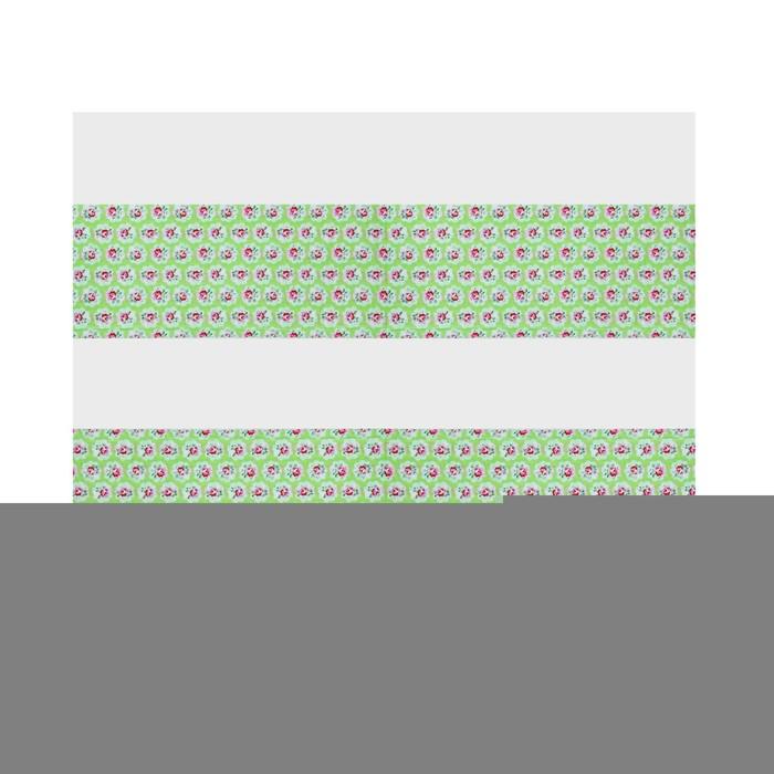 """Скатерть """"Цветы"""", цвет: зелёный, 108х180 см"""