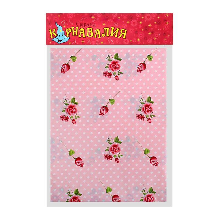 """Скатерть """"Цветочная полянка"""", цвет: розовый, 108х180 см"""