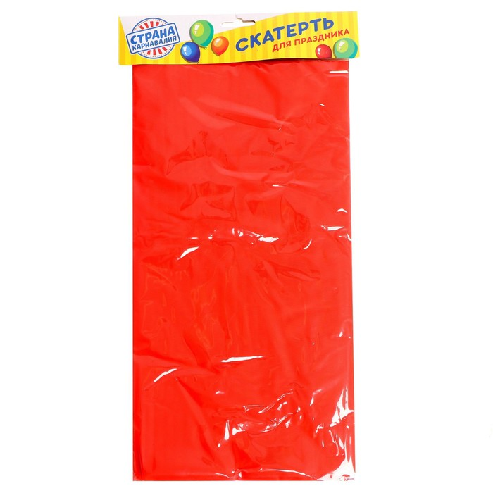 """Tablecloth """"Holiday table"""", color: red, 137х183"""