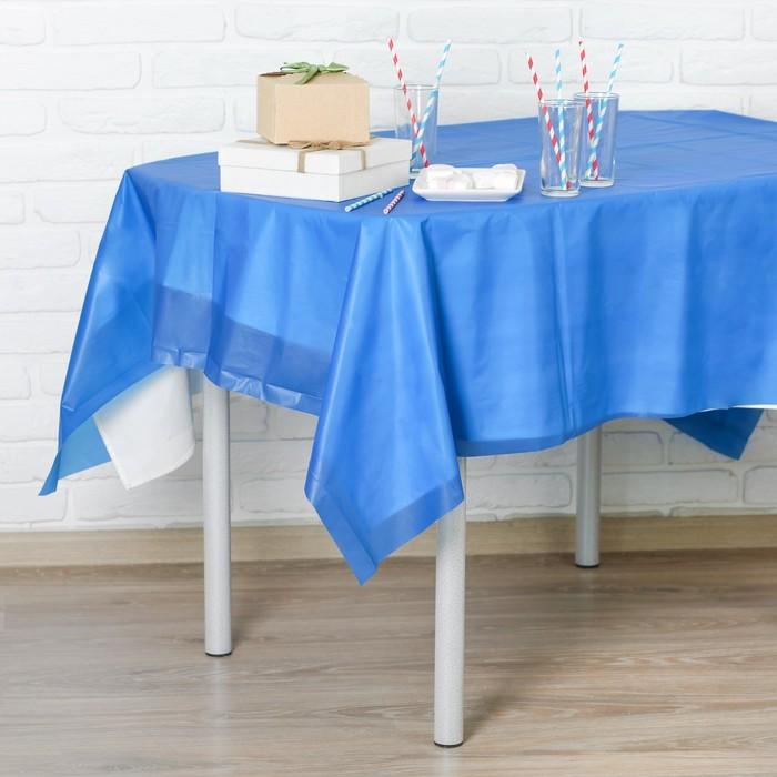 """Скатерть """"Праздничный стол"""", цвет синий, 137 х 183 см"""