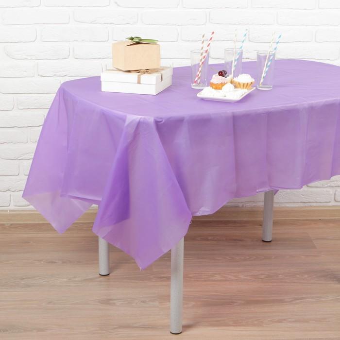 """Скатерть """"Праздничный стол"""", цвет: фиолетовый, 137х183 см 1"""