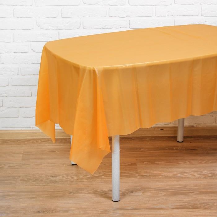 """Скатерть """"Праздничный стол"""", цвет: оранжевый, 137х183 см"""