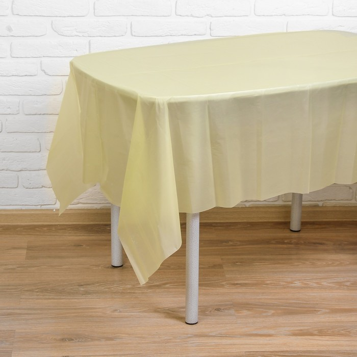 """Скатерть """"Праздничный стол"""", цвет: жёлтый, 137х183 см"""