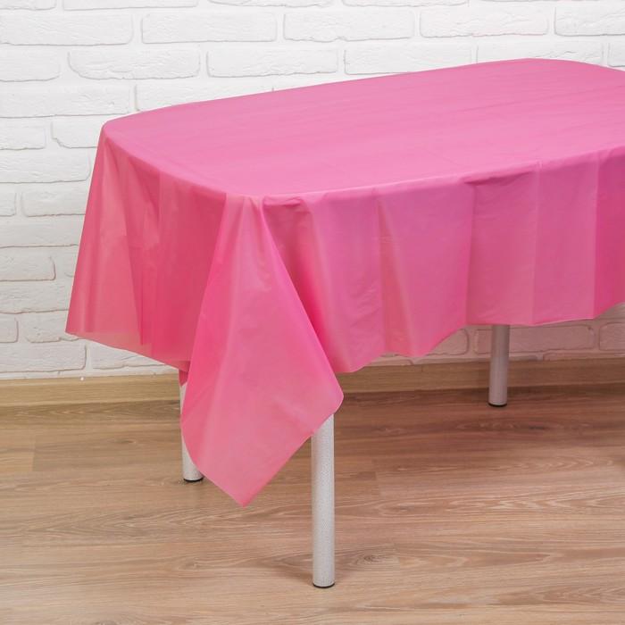 """Скатерть """"Праздничный стол"""", цвет: розовый, 137х183 см"""