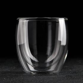 "A glass of 200 ml of ""old fashion"" glass with double walls"