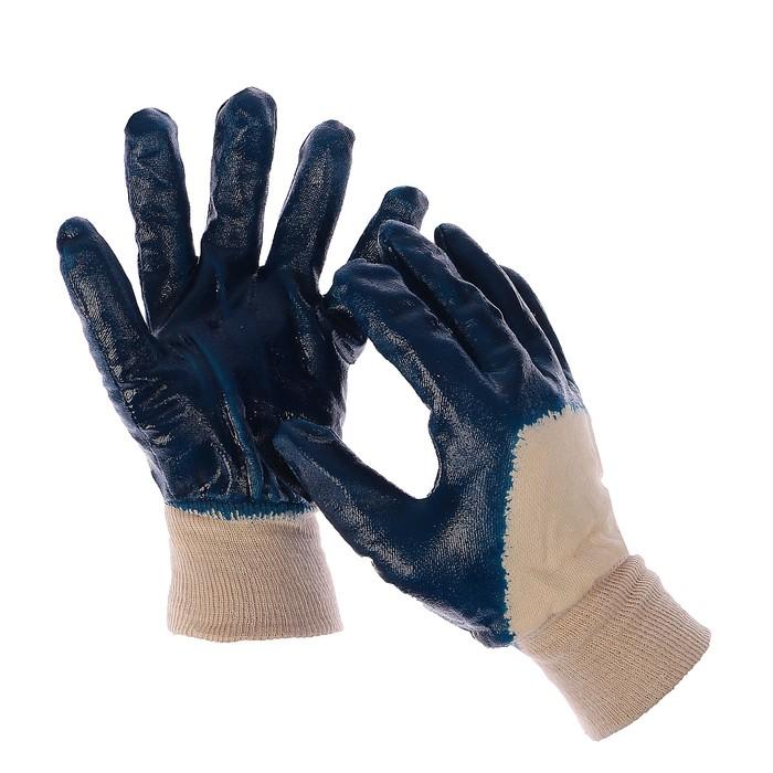 Перчатки, х/б, с нитриловым полуобливом, размер 10