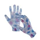 Перчатки нейлоновые, с латексной пропиткой, размер 8, цвет МИКС