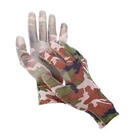 Перчатки нейлоновые, с латексной пропиткой, размер 9, цвет МИКС