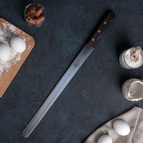 {{photo.Alt || photo.Description || 'Нож для бисквита «Гурман-Про» с мелкими зубцам, деревянная ручка, рабочая поверхность 35 см'}}