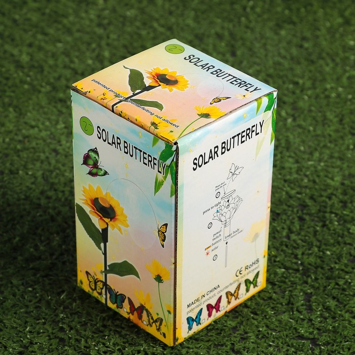 """Декоративный штекер на пальчиковой батарее """"Порхающая бабочка на цветке"""""""