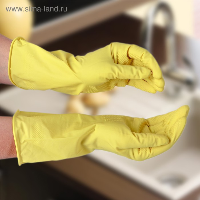 Latex gloves, size S, color MIX