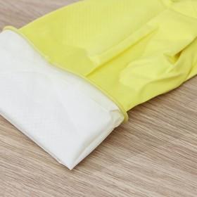 Перчатки хозяйственные латексные, размер XL, 40 гр, цвет МИКС - фото 4632456