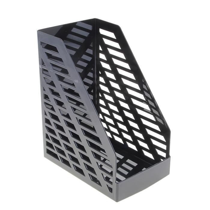 Лоток для бумаг вертикальный, STAMM XXL, чёрный, ширина 16 см