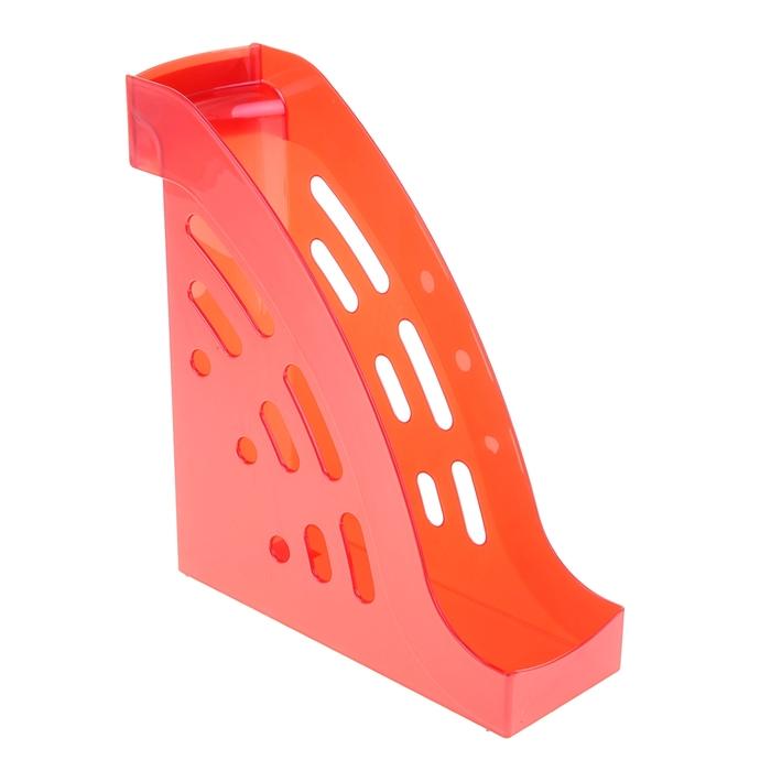 """Лоток для бумаг вертикальный """"Торнадо"""", красный GLOSS"""