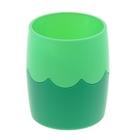 Стакан для пишущих принадлежностей двухцветный зеленый