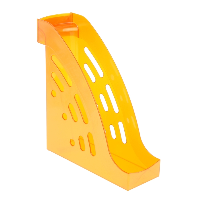 """Лоток для бумаг вертикальный """"Торнадо"""", оранжевый GLOSS"""
