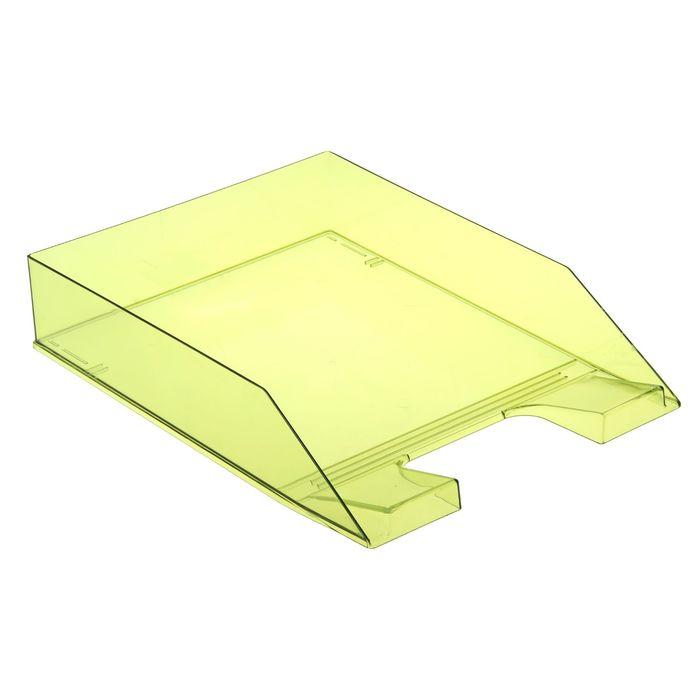 """Лоток для бумаг горизонтальный """"Каскад"""", зелёный лайм"""