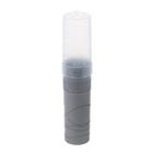 Пенал тубус пластиковый 45х195 мм «Стамм» серый металлик Silver