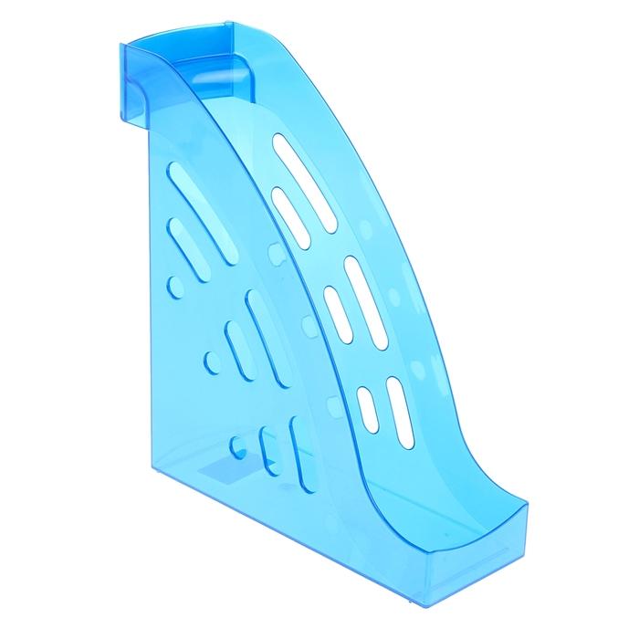 """Лоток для бумаг вертикальный """"Торнадо"""", синий GLOSS"""