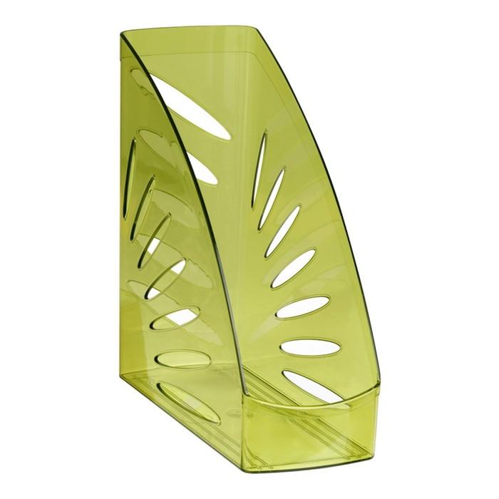 Лоток для бумаг вертикальный «Тропик», зелёный лайм - фото 537633455