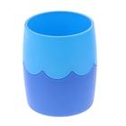Стакан для пишущих принадлежностей двухцветный синий