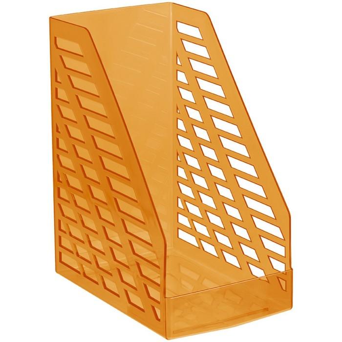 Лоток для бумаг вертикальный STAMM XXL, тонированный оранжевый, ширина 16 см