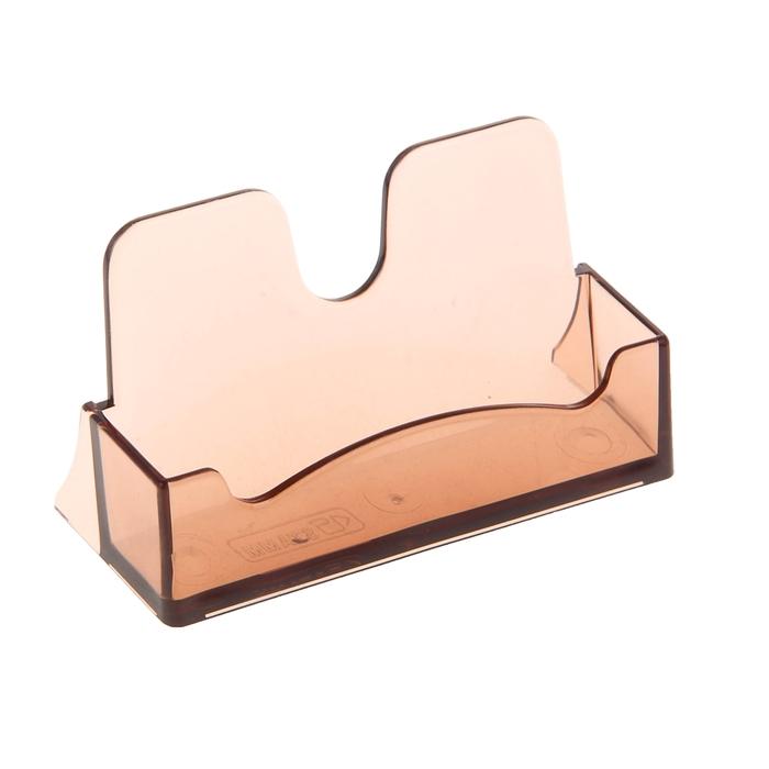 Подставка для визиток, тонированная коричневая
