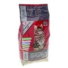 """Наполнитель минеральный впитывающий для длинношерстных кошек """"Флимси мур-мяу"""", 5 л"""