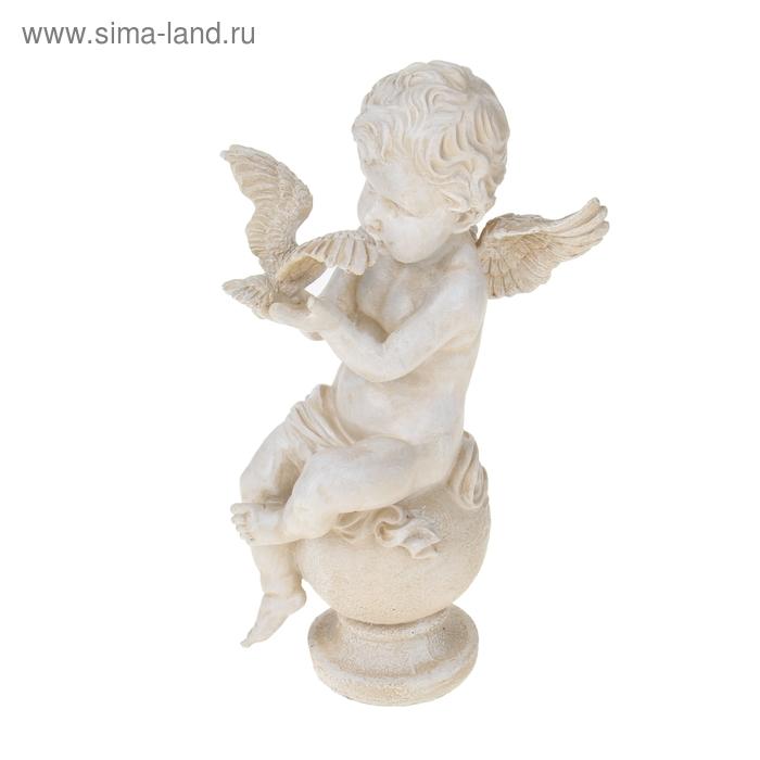 """Садовая фигура """"Ангел с птицей"""""""