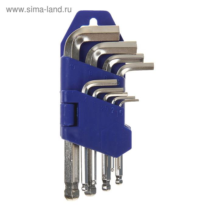 Набор ключей шестигранников TUNDRA comfort, 1.5 - 10 мм 9 штук, с шаром