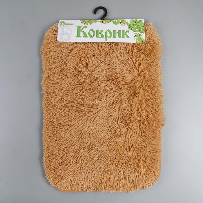 """Коврик для ванной """"Пушистик"""", цвет светло-коричневый"""