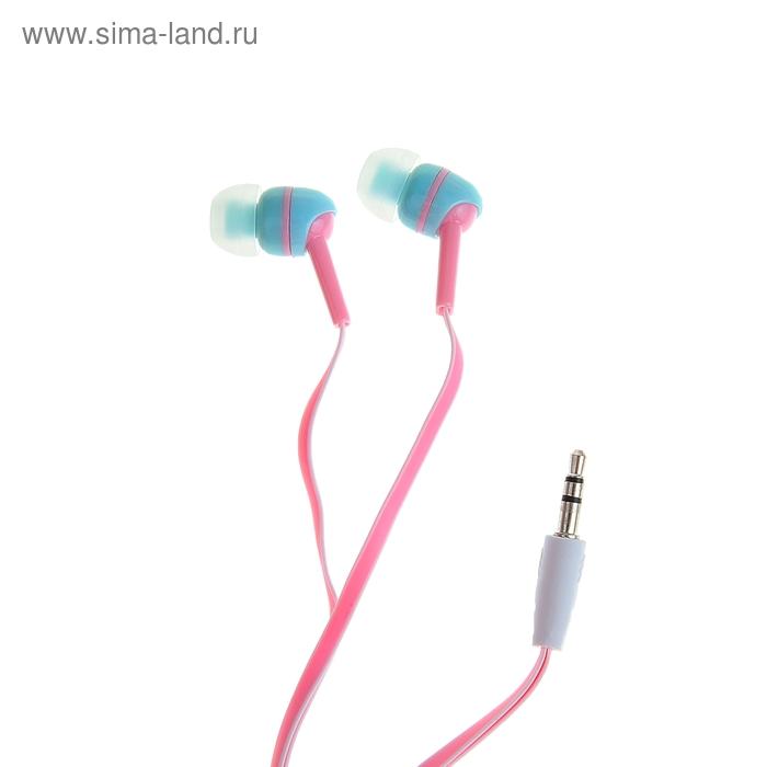 Наушники Luazon HD-9, вакуумные, розовые