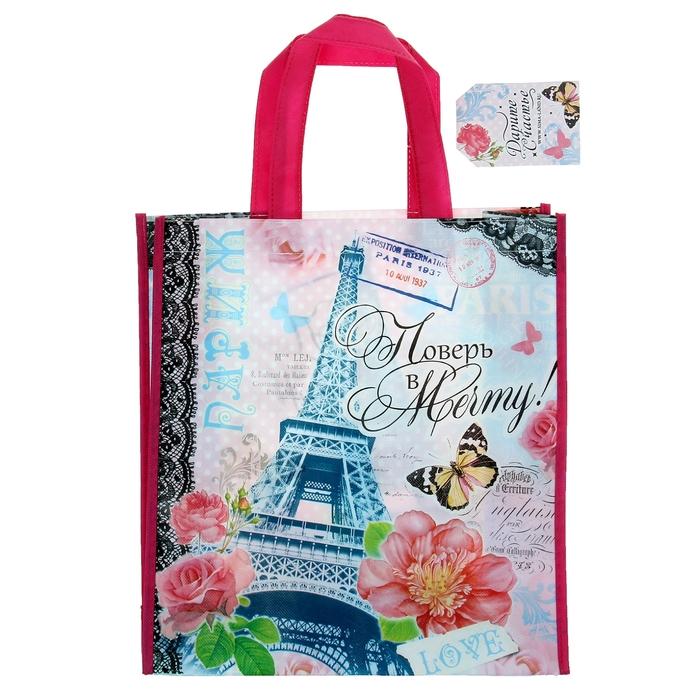 Сумка подарочная «Париж», 30 × 33 см