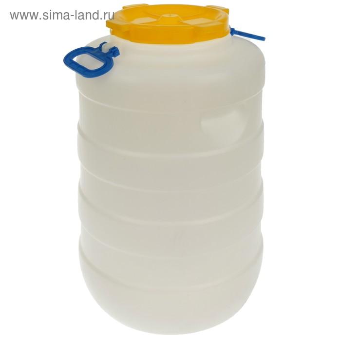 Фляга пищевая, 50 л, горловина 19 см, белая