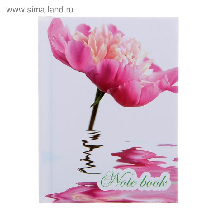 """Блокнот твердая обложка А7, 64 листа """"Цветы и вода"""""""
