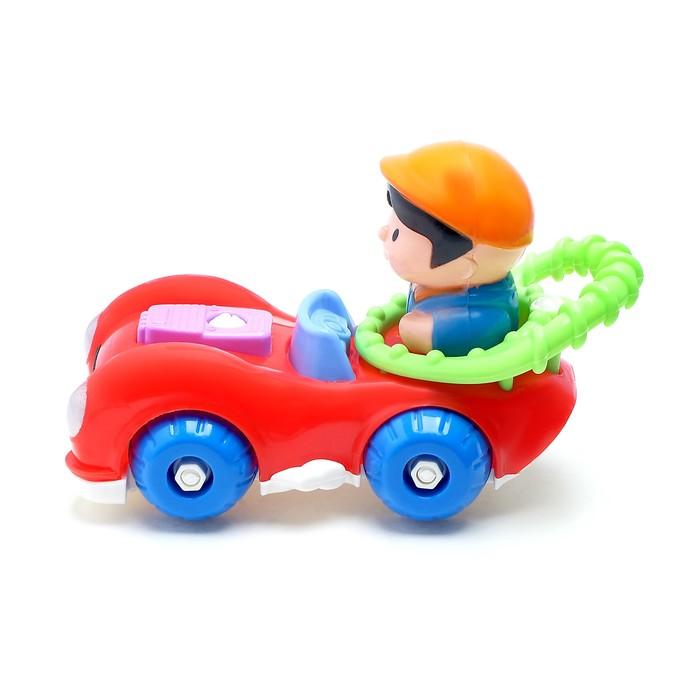 Конструктор для малышей «Забавный автомобилист», 18 деталей, цвета МИКС