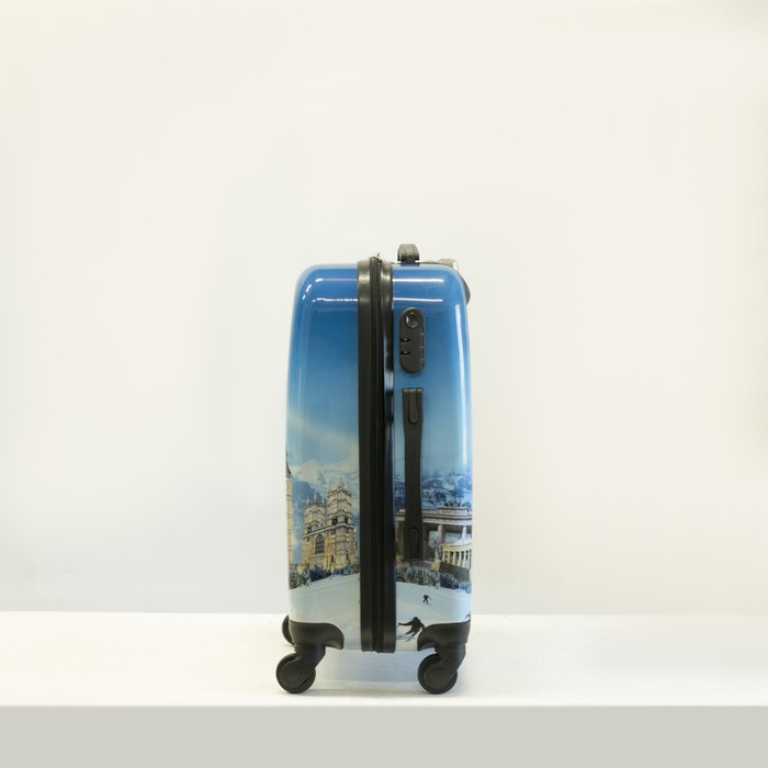 """Чемодан """"Европа"""", малый, 20"""", 40 л, 4 колеса, кодовый замок, цвет голубой - фото 1058102"""